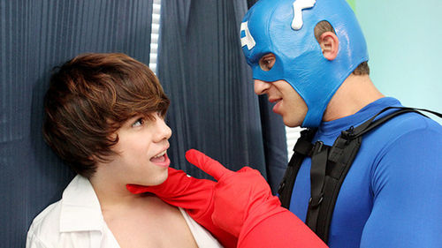 Fucked By A Super Hero! (Austin Ried & Kyler Moss)