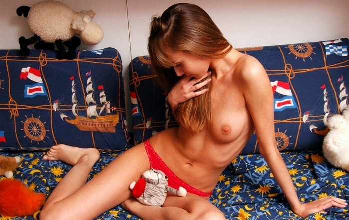 Maria - Cute Maria and Her Toys: Some Couch Tease