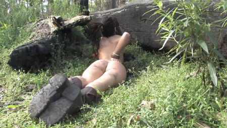 Naked girl in the forest