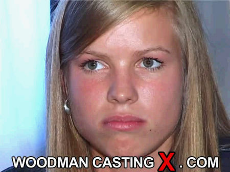 Woodman casting - very hot female student at the casting