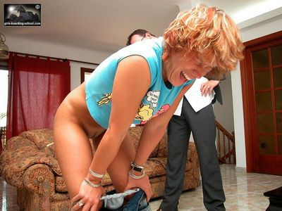 spanking the pizza girl