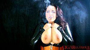 019_SFC_CG_Mellie_D_Busty_Latex_Cigar_Smoker.wmv. Type WMV