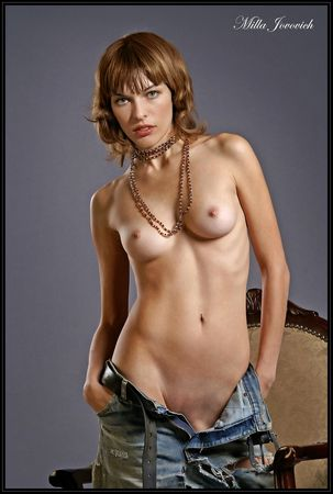 Porno photos (fakes) of Milla Jovovich, American actress and supermodel.