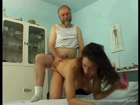Young beautiful girl fuck in the ass by her grandfather