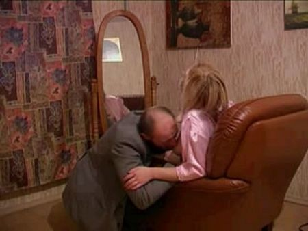 Incest - Dad fuck his daughter on the couch