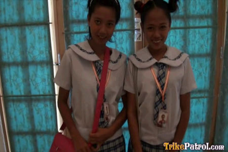 Two obedient to Asian teens Girls