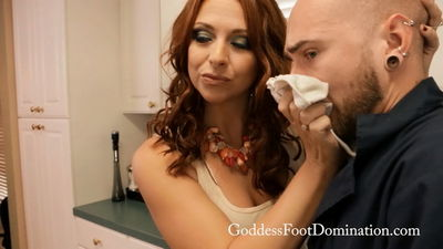 Goddess Foot Domination - Panty Sniffing Mechanic