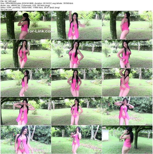 TeenBeautyFitness video 345 Alejandra – Neon Pink Babydoll