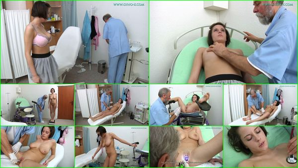 Medical Fetish, Gyno Exam, Close Ups, Anal & Vaginal Enema, Brunette, Natural Big Tits, Tampon