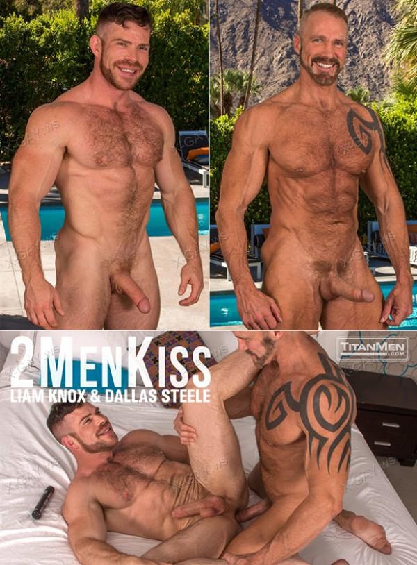 TitanMen: 2 Men Kiss (Dallas Steele, Liam Knox)
