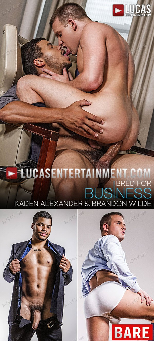 LucasEntertainment: Kaden Alexander Fucks Brandon Wilde Raw In The Office (Bareback)