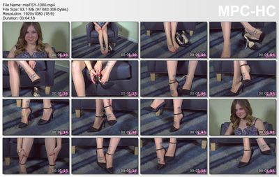 Humiliatrix - Play Peekaboo with Missy's Toes in Her Sheer Toeless Pantyhose