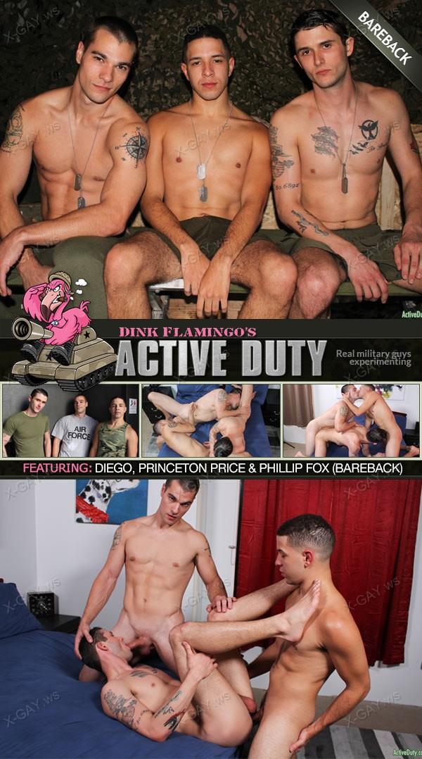 ActiveDuty: Princeton Price, Phillip Fox, Diego (Bareback)