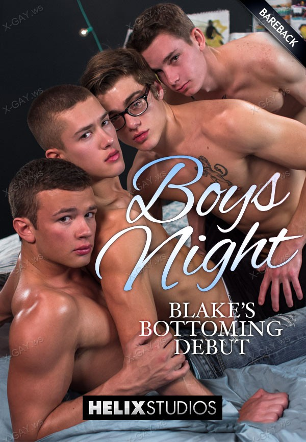 HelixStudios: Boys Night (Blake Mitchell, Logan Cross, Colton James, Sean Ford) (Bareback)