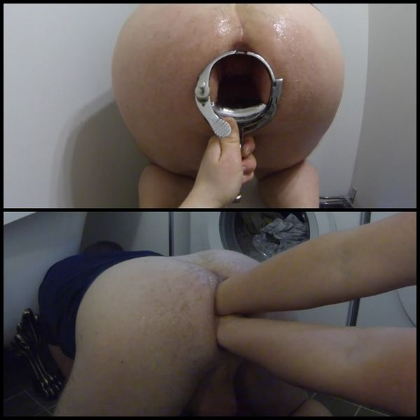 Mistress POV – XO Speculum, Giant strapons and double fisting