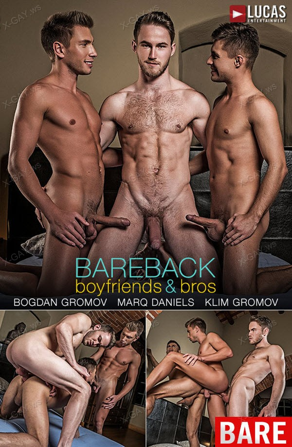 LucasEntertainment: Marq Daniels And Bogdan Gromov Double-Team Klim Gromov (Bareback)