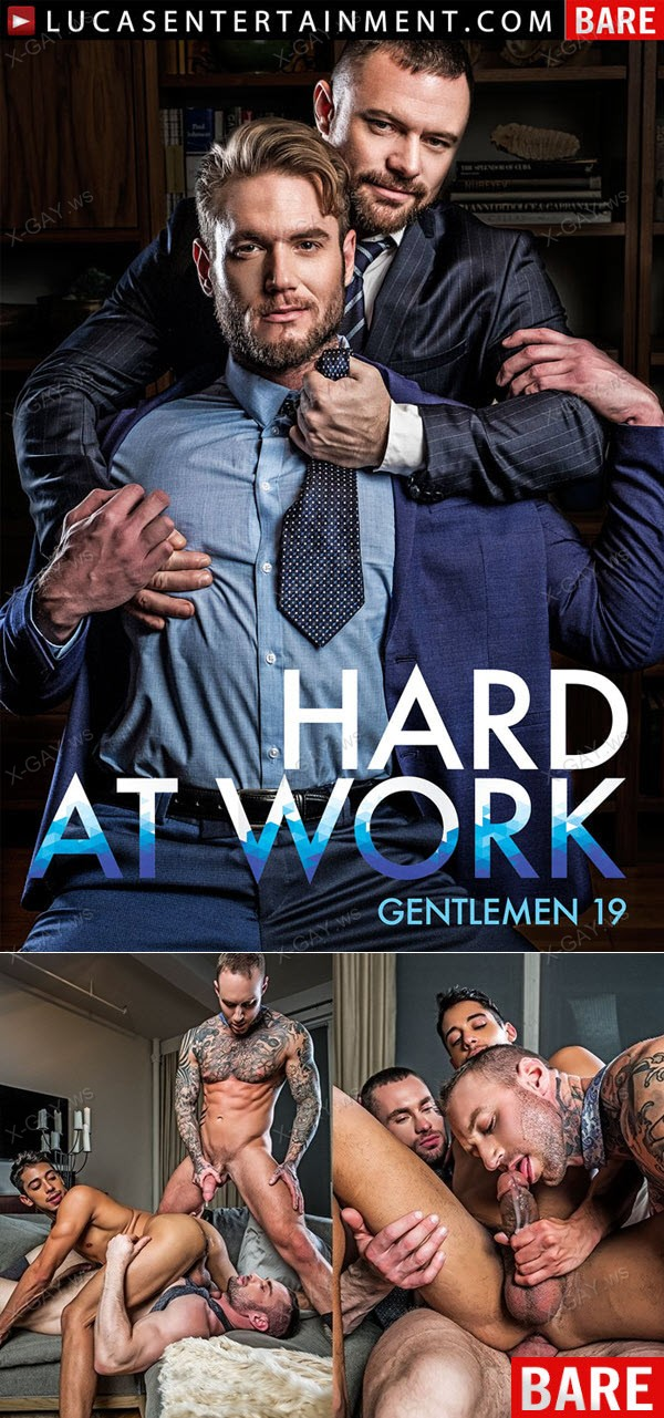 LucasEntertainment: Drae Axtell's Corporate Threesome With Dylan James And Stas Landon (Bareback)