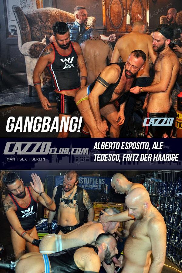CazzoClub: GangBang! (Alberto Esposito, Ale Tedesco, Fritz der Haarige)